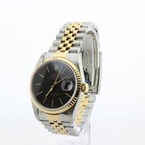Rolex Datejust Złoto/Stal 36mm Czarny Bez cyfr