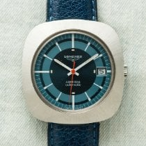 Longines Admiral Steel 39mm Blue No numerals United States of America, New York, New York