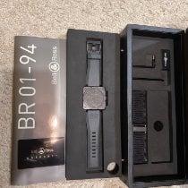 Bell & Ross BR 01-94 Chronographe подержанные 46mm Черный Хронограф Дата Каучук