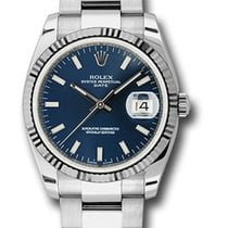 Rolex Oyster Perpetual Date Steel 34mm Blue United States of America, California, Los Angeles