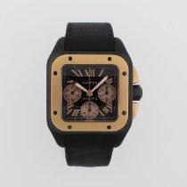 Cartier Santos 100 Титан Черный Римские