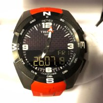 Tissot T-Touch Expert Solar pre-owned 45mm Black Chronograph Date Perpetual calendar Alarm GMT Silicon