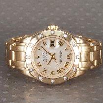 Rolex Lady-Datejust Pearlmaster Gult guld 29mm Perlemor Romertal Danmark, Hellerup