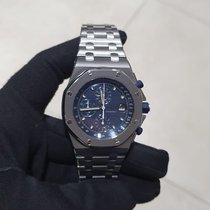 Audemars Piguet Royal Oak Offshore Chronograph Steel 42mm Blue No numerals
