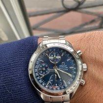 Omega Speedmaster Day Date Acier 39mm Bleu Sans chiffres