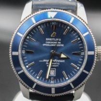 Breitling Superocean Heritage 46 Staal 46mm Blauw Geen cijfers