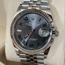 Rolex Datejust Steel 36mm Grey Roman numerals