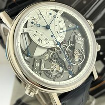 Breguet White gold Manual winding Silver 44mm pre-owned Tradition