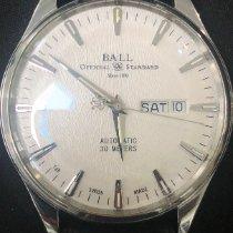 Ball Trainmaster Eternity gebraucht 39.5mm Silber Krokodilleder
