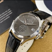 Jaeger-LeCoultre White gold Automatic Black 40mm pre-owned Master Hometime