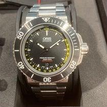 豪利时 Aquis Depth Gauge 01 733 7675 4154-Set 非常好 鋼 46mm 自動發條 香港