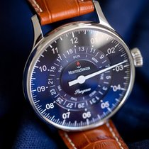 Meistersinger Steel Automatic Blue Arabic numerals 40mm new Pangaea Day Date