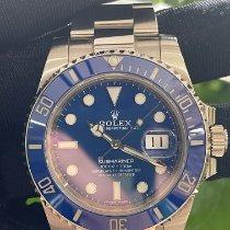 Rolex Submariner Date Белое золото Синий Без цифр