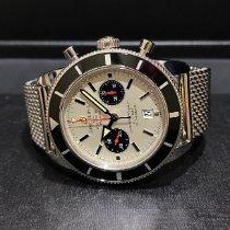 Breitling Superocean Heritage Chronograph Steel 46mm Silver No numerals