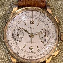 Rolex Chronograph Yellow gold Silver Arabic numerals