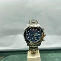Omega Seamaster gebraucht 42mm Blau Titan