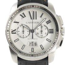 Cartier Calibre de Cartier Chronograph Сталь 42mm Cеребро