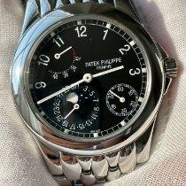 百达翡丽海王星钢铁37mm黑色阿拉伯数字美国,纽约,劳伦斯