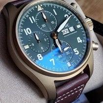 IWC Pilot Spitfire Chronograph Bronze 41mm Verde Árabes