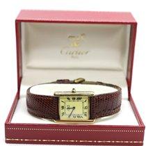 Cartier Silver Quartz Roman numerals pre-owned 21 Must de Cartier