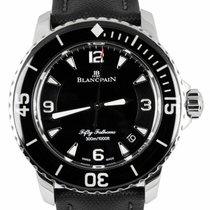 Blancpain pre-owned Automatic 45mm Black Sapphire crystal