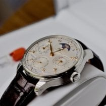IWC Portuguese Perpetual Calendar pre-owned Moon phase Perpetual calendar Leather