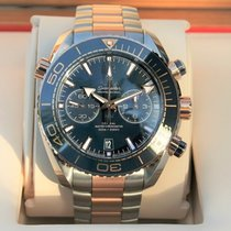 Omega Seamaster Planet Ocean Chronograph Altın/Çelik 45.5mm Mavi