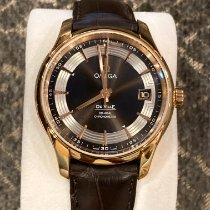 Omega Rose gold Automatic Brown No numerals 41mm new De Ville Hour Vision
