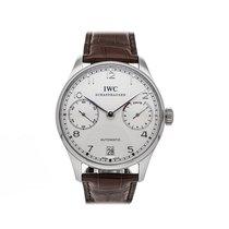 IWC Platinum Automatic Silver Arabic numerals 42mm pre-owned Portuguese Automatic