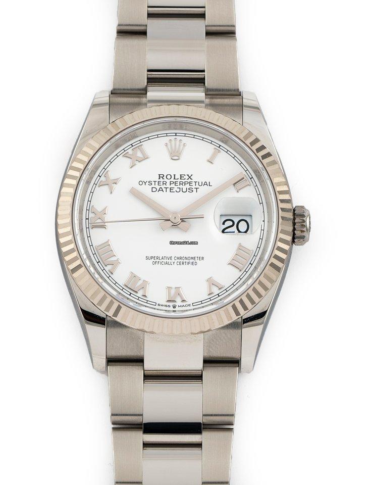 Rolex Datejust 126234 White Roman Oyster 2021 new