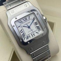 Cartier Santos Galbée gebraucht 32mm Weiß Datum Stahl