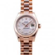 Rolex Red gold Automatic Pink 26mm pre-owned Lady-Datejust