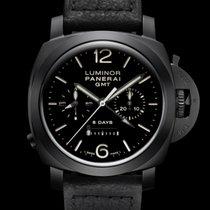 Panerai Luminor 1950 8 Days Chrono Monopulsante GMT neu 2013 Handaufzug Chronograph Uhr mit Original-Box und Original-Papieren PAM 00317