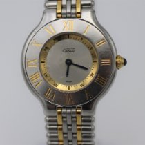 Cartier Steel Quartz Silver Roman numerals 28mm pre-owned 21 Must de Cartier
