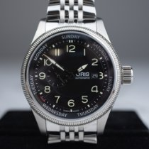 Oris Big Crown Small Second Pointer Day Steel Black