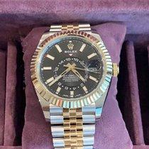 Rolex Sky-Dweller Gold/Steel 42mm Black No numerals