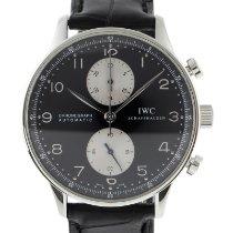 IWC Portuguese Chronograph Сталь 41mm Черный