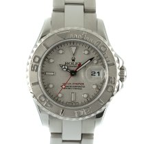 Rolex Steel Automatic Silver 29mm pre-owned Yacht-Master