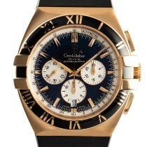 Omega Red gold Automatic Black 41mm pre-owned Constellation Double Eagle