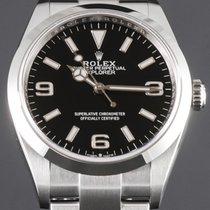 Rolex Explorer Stahl 36mm Schwarz Arabisch Deutschland, Essen