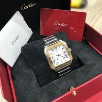 Cartier Santos (submodel) Gold/Steel 39.8mm Silver Roman numerals United States of America, New York, NEW YORK