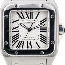 Cartier Santos 100 Сталь Cеребро