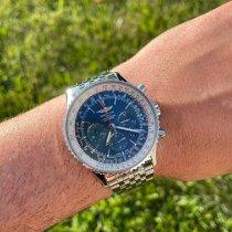 Breitling Navitimer 01 (46 MM) подержанные 46mm Синий Хронограф Дата Сталь