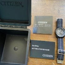 Citizen Promaster pre-owned 42mm Black Date GMT Leather