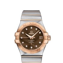 Omega Red gold Automatic Brown 35mm new Constellation Ladies