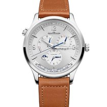 Jaeger-LeCoultre Steel Automatic Silver 40mm new Master Geographic
