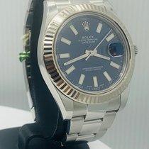 Rolex Datejust II Staal 41mm Blauw Geen cijfers Nederland, Amsterdam