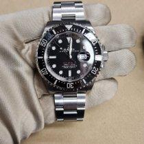 Rolex Sea-Dweller 4000 Staal 43mm Zwart Geen cijfers