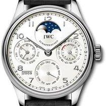 IWC Portuguese Perpetual Calendar Платина 44mm Белый Без цифр
