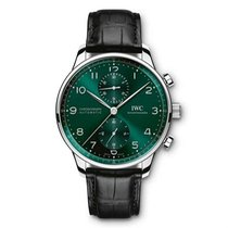 IWC Portuguese Chronograph Otel 41mm Verde Arabic